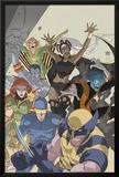 Uncanny X-Men: First Class No.4 Cover: Wolverine, Cyclops, Phoenix, Storm and Nightcrawler Print by Roger Cruz