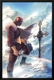 Captain America No.608 Cover: Baron Zemo Standing with a Sword in the Snow Poster by Marko Djurdjevic