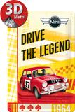 Mini - Drive The Legend Plaque en métal