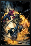 Amazing Spider-Man and Ghost Rider: Motorstorm No.1 Cover Print by Roberto De La Torre