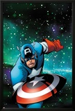 Captain America & The Korvac Saga No.1 Cover: Captain America Running Posters by Craig Rousseau