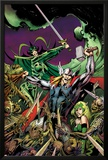 Avengers Prime No.3 Cover: Thor, Enchantress, and Hela Fighting Poster by Alan Davis