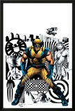 Wolverine No.27 Cover: Wolverine, Nick Fury and Elektra Print by Greg Land