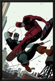 Daredevil No.2 Cover: Daredevil and Captain America Fighting Print by Paolo Rivera