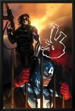 Capitan America No.612 Cover: Captain America and Winter Soldier Standing Prints by Marko Djurdjevic