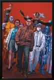X-Club No.5 Cover: Madison Jeffries, Dr. Nemesis, Kavita Rao, Danger and Storm Print by Rodin Esquejo