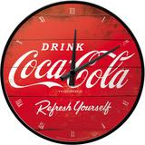 Coca-Cola - Logo Red Refresh Yourself Zegar