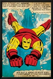 Marvel Comics Retro: The Invincible Iron Man Comic Panel, Swimming (aged) Photo
