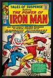 Marvel Comics Retro: The Invincible Iron Man Comic Book Cover No.58, Facing Captain America (aged) Posters