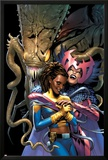 X-Men: The End V2 N4 Cover: Brood, Deathbird, Reyes and Cecelia Prints by Chris Claremont