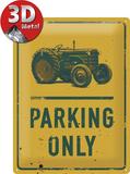 Tractor Parking Only Blikskilt
