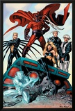 X-Men: Age of Apocalypse One Shot No.1 Group: Magneto, Iceman and Quicksilver Poster by Andy Kubert