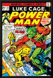 Marvel Comics Retro: Luke Cage, Power Man Comic Book Cover No.29, Fighting Mr. Fish Poster