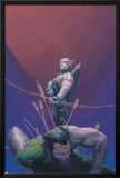 House Of M No.1 Cover: Hawkeye and Wolverine Posters by Esad Ribic
