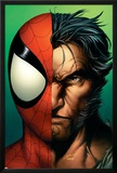 Ultimate Spider-Man No.67 Cover: Spider-Man and Wolverine Poster by Mark Bagley