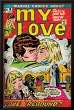 Marvel Comics Retro: My Love Comic Book Cover No.18, Kissing, Love on the Rebound (aged) Photo