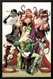 Women of Marvel No.1 Cover: Enchantress, Black Cat, Medusa, and Satana Posing Print by Sara Pichelli