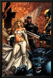 Uncanny X-Men No.494 Cover: Beast, Emma Frost, Cyclops and Wolverine Prints by David Finch