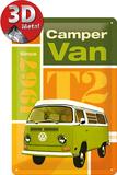 VW T2 Camper Van Plaque en métal