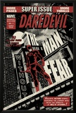 Daredevil Black & White No.1 Cover: Daredevil Standing on a Rooftop Posters by David Aja