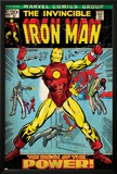 Marvel Comics Retro: The Invincible Iron Man Comic Book Cover No.47, Breaking Through Chains (aged) Prints