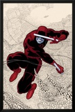 Daredevil No.1 Cover: Daredevl Jumping amidst Sounds Prints by Paolo Rivera