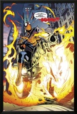 Amazing Spider-Man/Ghost Rider: Motoerstorm No.1: Spider-Man Riding a Flaming Motorcycle Posters by Lee Garbett
