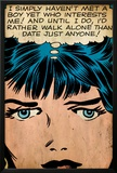 Marvel Comics Retro: Love Comic Panel, Proud Single Woman (aged) Print