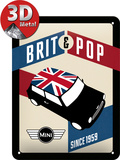 Mini - Brit Pop Plåtskylt