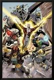 Alpha Flight No.4: Guardian, Marina, Puck, and Shaman Posters by Dale Eaglesham