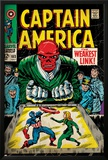 Marvel Comics Retro: Captain America Comic Book Cover No.103, Red Skull, the Weakest Link (aged) Prints