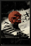 Red Skull No.3 Cover: Redskull Portrait Amidst Tanks and Planes Photo by David Aja