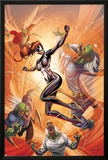 Spider-Island: The Amazing Spider-Girl No.3 Cover: Spider-Girl Fighting and Jumping Posters by Ale Garza