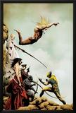 Wolverine No.2 Cover: Wolverine and Sabretooth Fighting Print by Jae Lee