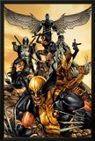 Wolverine: The Road to Hell No.1 Cover: Wolverine, X-23, Deadpool, Psylocke, Archangel, & Fantomax Print by Mico Suayan