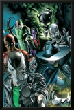Villains For Hire No.1 Cover: Death Stalker, Scourge, Shocker, Avalanche, and Purple Man Prints by Rodolfo Migliari