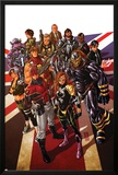 Revolutionary War: Alpha 1 Cover: Captain Britain, Angel, Killpower, Wisdom, Pete, Colonel Liger Posters by Mark Brooks