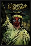 The Amazing Spider-Man No.666 Cover: Spider-Man Painted on the Statue of Liberty Print by Mike Del Mundo