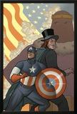 Thunderbolts No.164 Cover: Captain America, Mr. Hyde, and Baron Zemo Prints by Joe Quinones