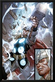The Mighty Thor No.10: Panels with Thor and Mjolnir Prints by Pepe Larraz