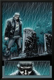 Secret Warriors No.24: Nick Fury Standing in the Rain at Night by a Tombstone Posters by Alessandro Vitti