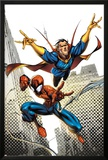 Marvel Adventures Spider-Man No.16 Cover: Spider-Man and Dr.Strange in the City Sky Prints by Ale Garza