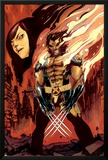 Wolverine and Jubilee No.3 Cover: Wolverine Flaming Posters by Nimit Malavia