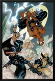 X-Men No.7 Cover: Spider-Man, Cyclops, Wolverine, Storm, and Emma Frost Prints by Terry Dodson