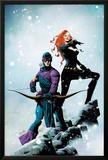 Widowmaker No.1 Cover: Hawkeye and Black Widow Posing Prints by Jae Lee