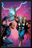 Marvel Adventures Super Heroes No.6 Cover: Thor Fighting Posters by Clayton Henry