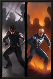 Captain America No.619 Cover: Winter Soldier and Steve Rogers Standing Ready Print by Marko Djurdjevic
