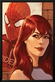 Web of Spider-Man No.11 Cover: Mary Jane Watson in front of a Poster Prints by Jelena Djurdjevic