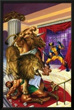 Wolverine/Hercules: Myths, Monsters & Mutants No.2 Cover: Wolverine and Hercules Fighting Prints by Joe Jusko