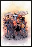 X-Men: Gold 1 Cover: Lockheed, Shadowcat, Storm, Angel, Grey, Jean, Bishop, Cyclops, Jubilee Prints by Olivier Coipel